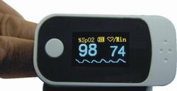 fingertip pulse oximeter rsd lf6000 waveform intensity display simultaneo