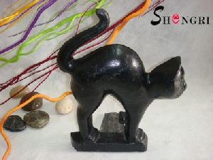 cast iron cat door stops