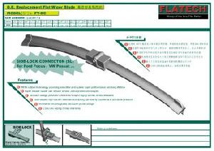 focus flat wiper blade