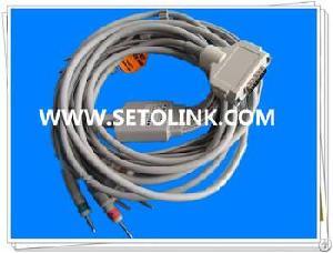 Fukuda Denshi Fx 2111 Ecg Ekg Cable 10 Leads Fx 101 Din 3.0 Iec Standard
