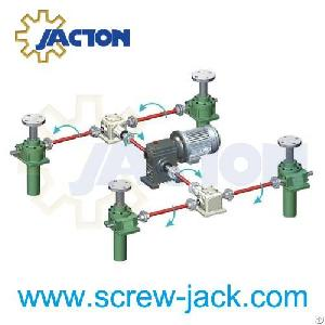 electrically powered mechanical lifter screw jack. Black Bedroom Furniture Sets. Home Design Ideas