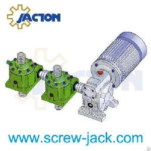 We Are Motor Worm Gear Drive System, Screw Jack For Machine Platform Lifting Manufacturers