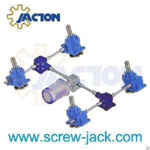 multi lift worm gear screw jack multiple actuator suppliers manufacturers