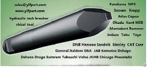 hydraulic breaker chisel tool moil point blunt wedge furukawa rammer npk montabert msb soosan