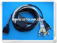 Shanghai Nihon Kohden Ecg Ekg Cable Din 3.0 End 10 Leadwires Iec Standard