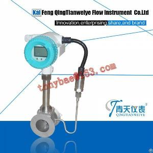 Intelligent Tempreature And Pressure Compensation Steam Vortex Flow Meter