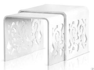 Acrylic nesting table laser middle east page 1 products photo acrylic nesting table set of 2 with laser for middle east market watchthetrailerfo
