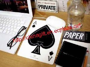 Poker Spade A Pattern Mouse Pad