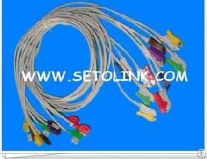 Trimii 10 Leads Ecg Cable Ekg Cable Clip End Iec Standard
