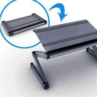 laptop desk portable folding aluminum foldable table stand