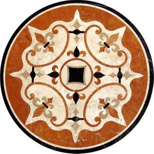 marble pattern waterjet medallion projects relievo frame backgroud wall