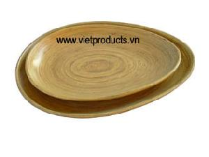 coilded bamboo plate 24378