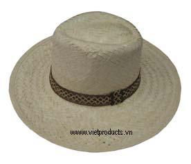 cowboy palm leaf hat 01539