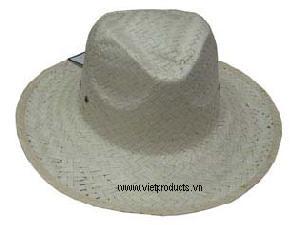 Cowboy Palm Leaf Hat For Ladies 01569