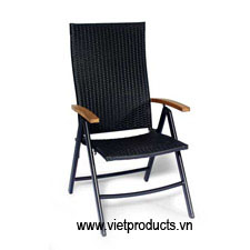 pe rattan folding chair 07621