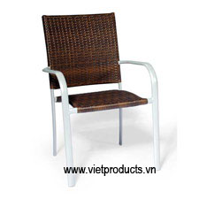 poly rattan outdoor chair 07607