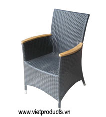 poly rattan arm chair 07640