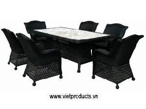 poly rattan furniture table 07618
