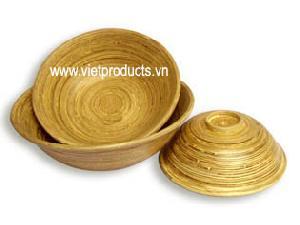 pressed bamboo bowl 24363