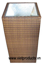 resin wicker planter flower pot 32906