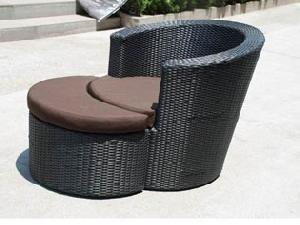 synthetic rattan beach chair