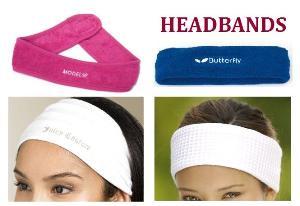 headbands hairbands spa terry cloth waffle wrist bands