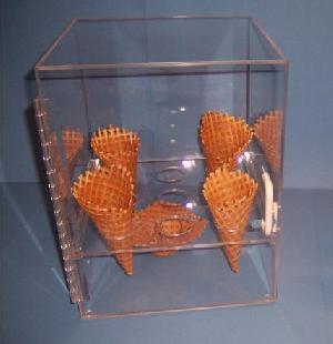 acrylic ice cream cone display