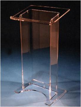 acrylic lectern