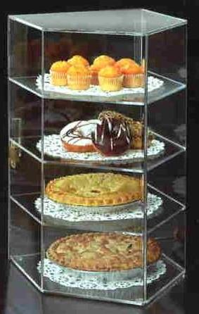 4 tier acrylic bakery display case