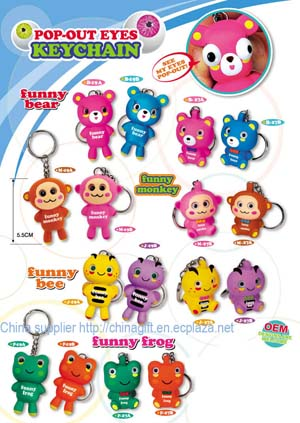 bouncing head keychain toy