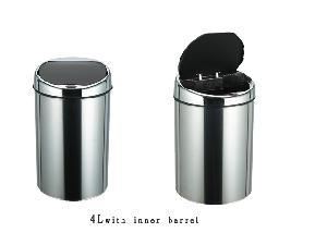 hand inductive rubbish bins trash waste litter bin storage