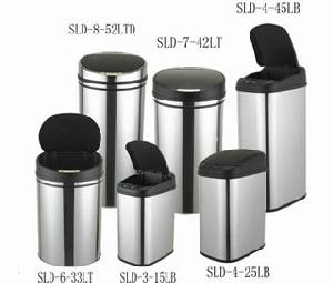 litter bin motion sensor dustbin garbage waste rubbish steel