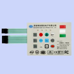 membrane switch embedded ir sensor led