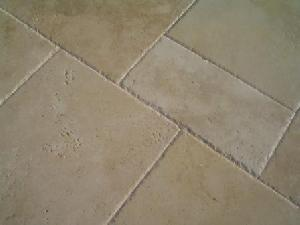 brushed chiselled travertine french pattern