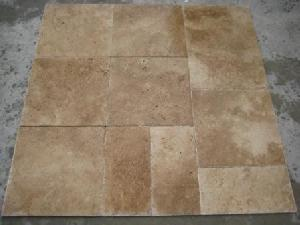 walnut brushed chiseled travertine tile