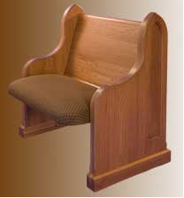 church pew seat chair