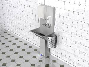 pedal operated combined sink