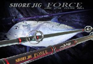 fishing rod shore jig fuji sic guide body snvc carbon fibre