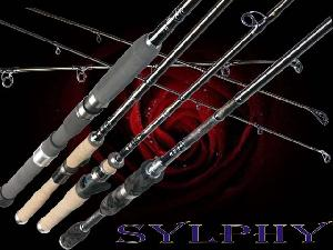 fishing rod sylphy fuji sic guide body snvc carbon fibre