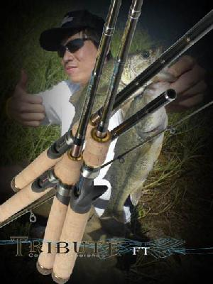 fishing rod tribute fuji sic guide body snvc carbon fibre