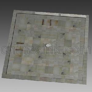 stone mosaic shower tray