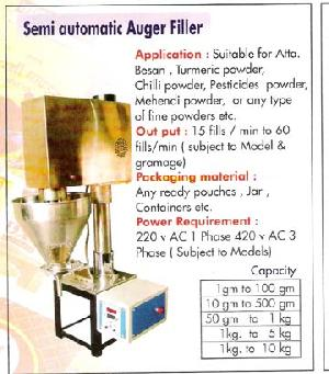 auger fillers powder filling machines