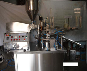 tube filling sealing coding machine