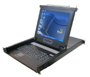 1u height rackmount kvm switch 17as 17 inches lcd screen