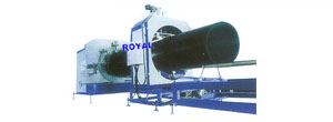 pe wall winding reinforced pipe extrusion line