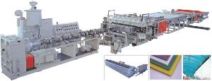 pp pe pc hollow grid sheet extrusion line