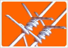 twisted barbed wire strand four points