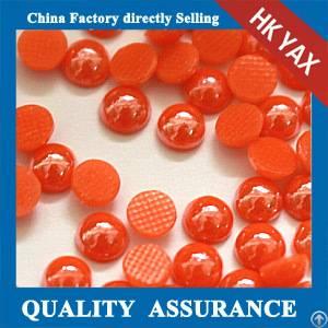 d0927 wholesale arrival fix half round ceramic pearl