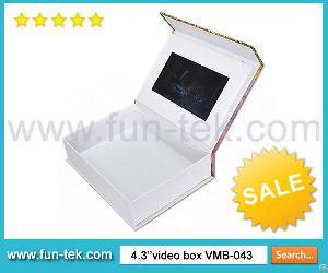Custom Design Video Box 4.3 Inch Lcd Packaging Light Sensor Case From Shenzhen China