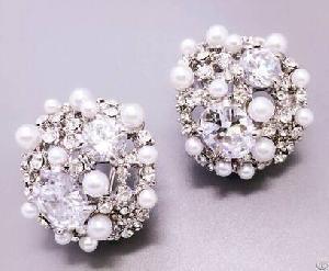 New Pearl Earings, Pearl Stud Earrings